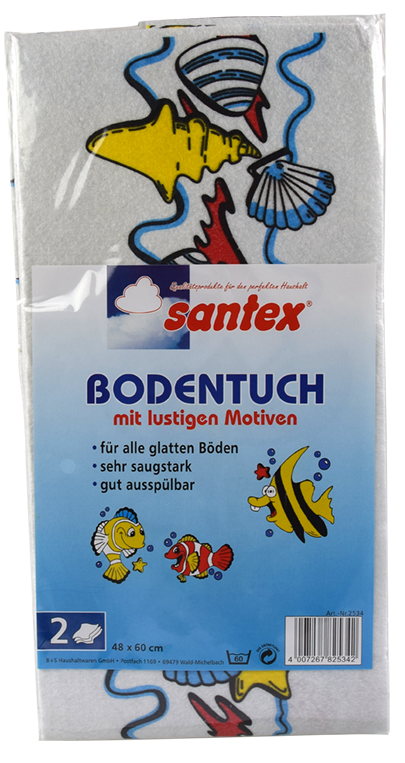 Bodentuch mit Motiven